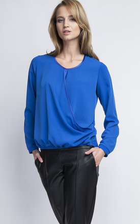 Cobalt wrap blouse by Lanti Product photo