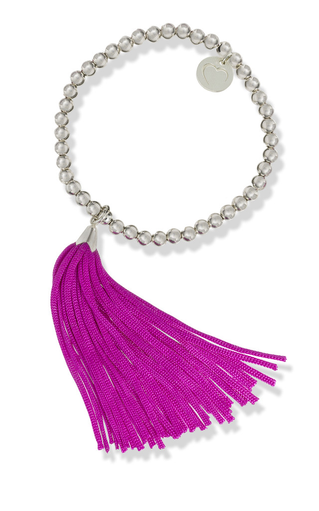 Pink Tassel Bracelet by Louise McLeod Jewellery