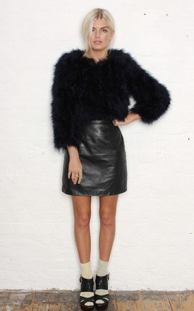 Black feather jacket by Never Fully Dressed Product photo