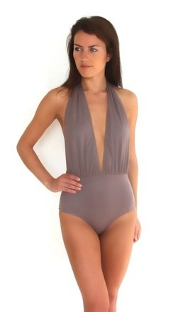 Marine Taupe One-piece Swimsuit by BeachHeart