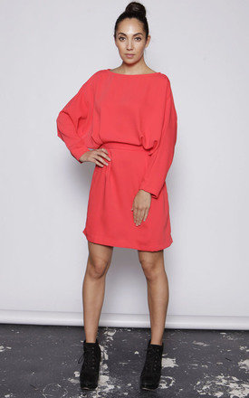 Batwing sleeve dress- red by One O Eight Product photo