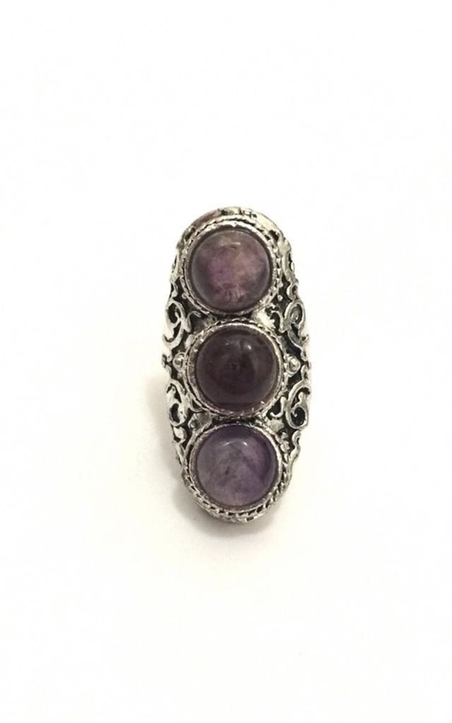 Cryptic amethyst ring by BlackMoon