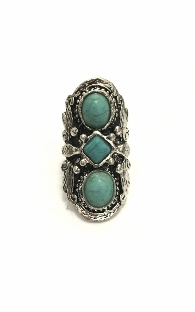 Cryptic turquoise ring by BlackMoon
