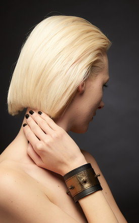 Josephine Two Tone Cuff by Renush Product photo