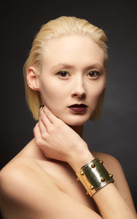 Josephine  Gold Cuff by Renush Product photo