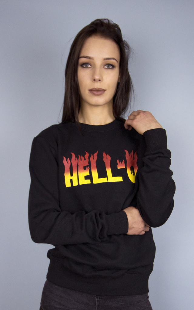'HELL-O' Sweatshirt by HEBA Clothing