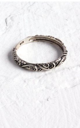 FERNE. Paisley Sterling Silver Band Ring by Aluna Mae