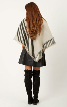 Geo Print Over Sized Blanket Scarf by Liquorish