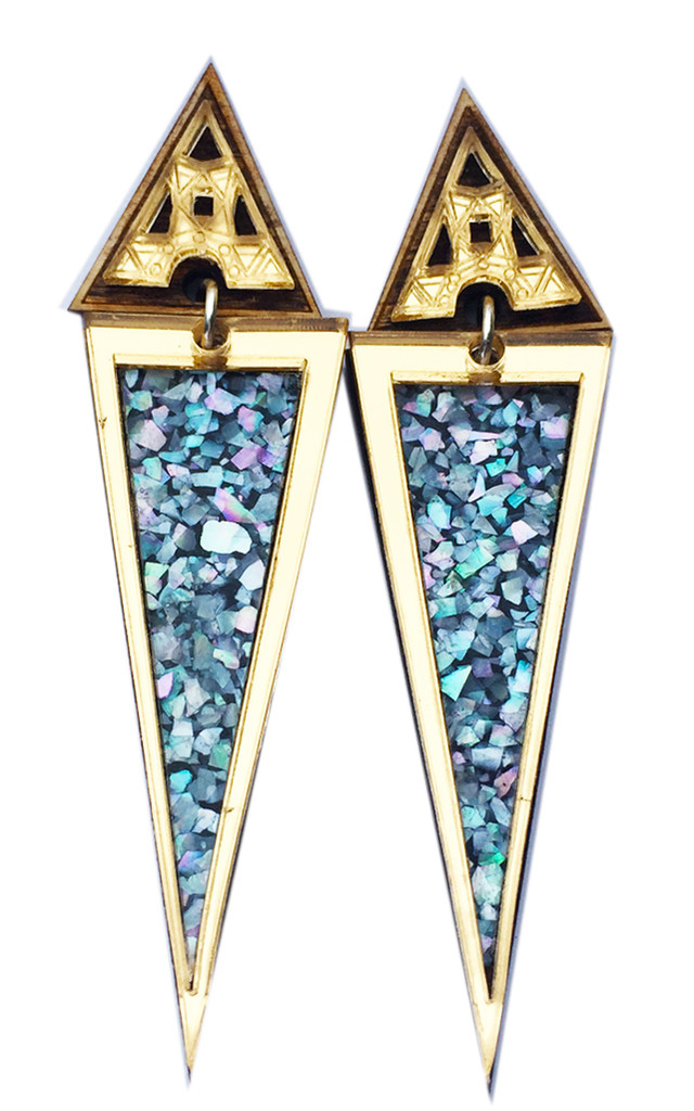 Long Trikon Earrings by Anisha Parmar London