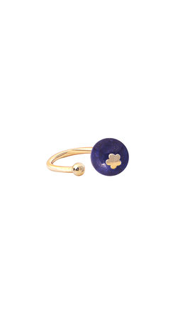 Lapis Lazuli single earcuff by Meriko London
