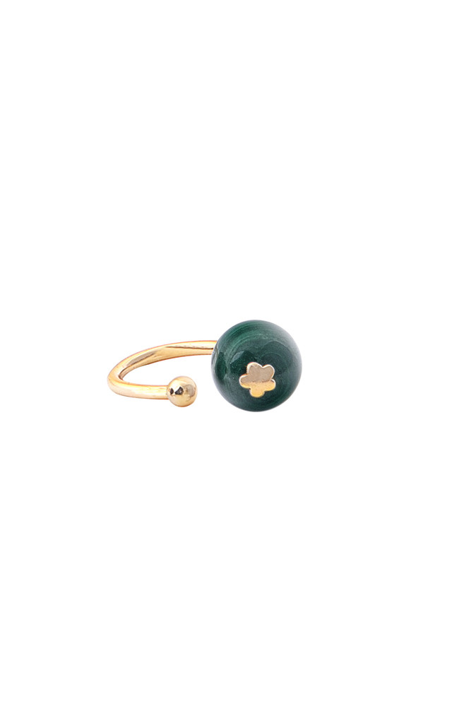 Malachite single earcuff by Meriko London