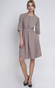Neutral A Line Midi Dress by Lanti