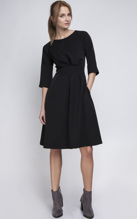 Black a line midi dress by Lanti Product photo