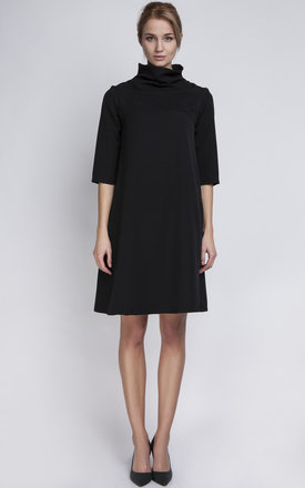 Black polo neck dress by Lanti Product photo