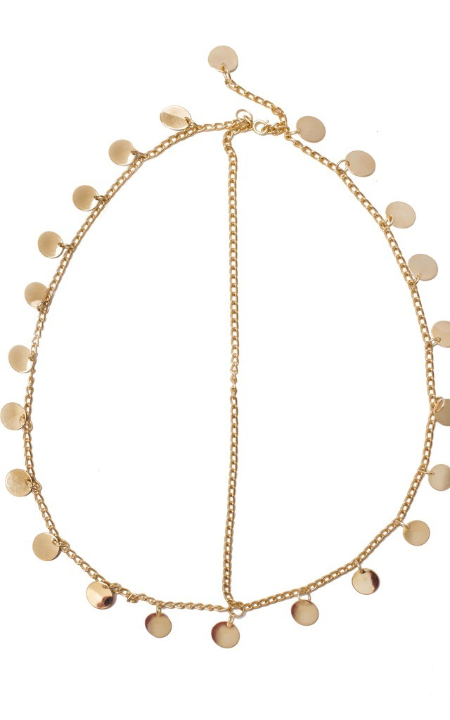 Gold Coin Head Chain by Beauxoxo