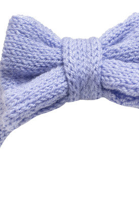 Lilac Knitted Bow Headband by Beauxoxo
