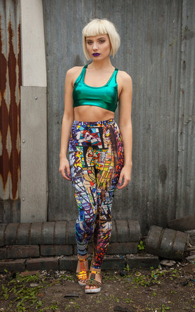 Stained Glass Leggings by Get Crooked
