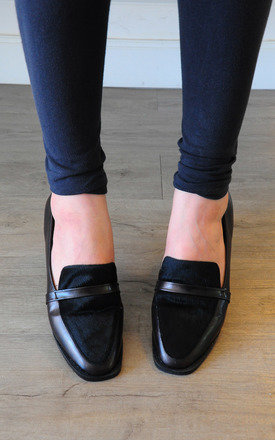 Dave genuine horse leather black loafers by SEIRA ELVES