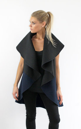 Black::Navy multi way cape by Scarlett Black London Product photo