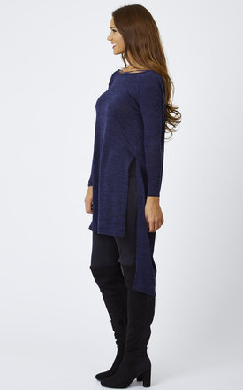 Cowl Back Knitted Tunic by Lilah Rose