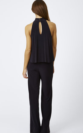 Pleated High Neck Jumpsuit by Bella and Blue