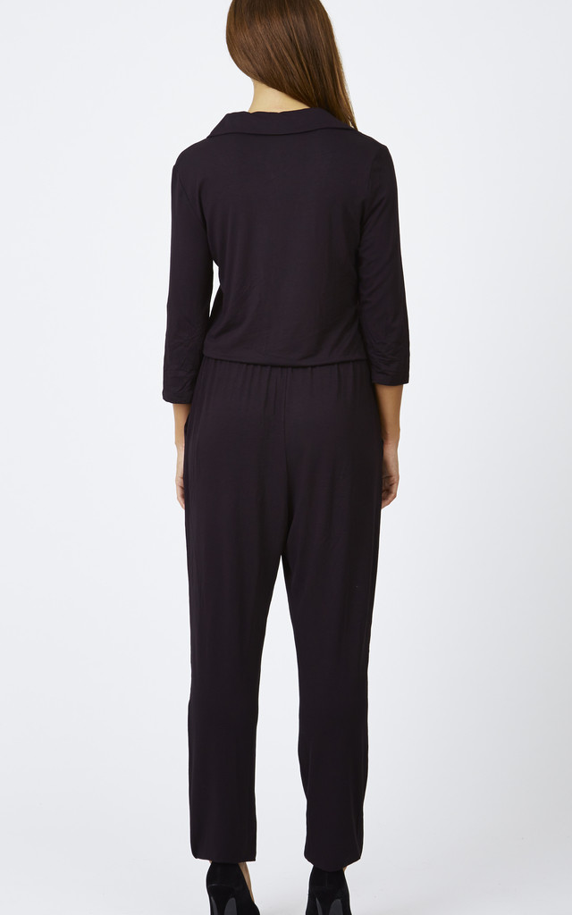 Zip Collar Jumpsuit by Lilah Rose