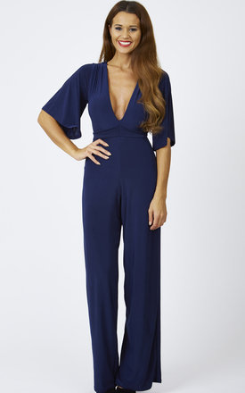 Low Plunge Silky Jumpsuit by Lilah Rose