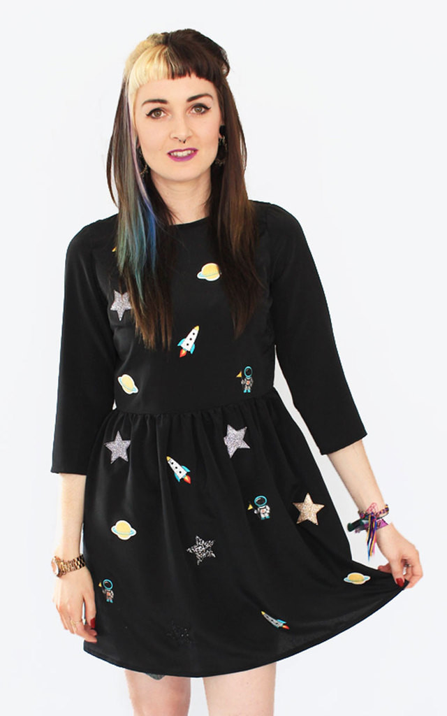 Space Embroidery Dress by Tallulah's Threads