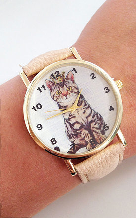 Cat with crown watch by Tallulah's Threads Product photo