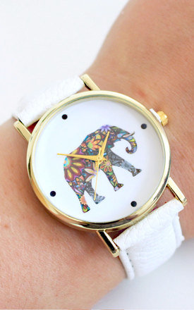 Floral elephant watch by Tallulah's Threads Product photo