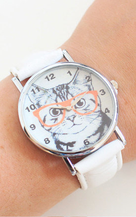 Hipster cat watch by Tallulah's Threads Product photo