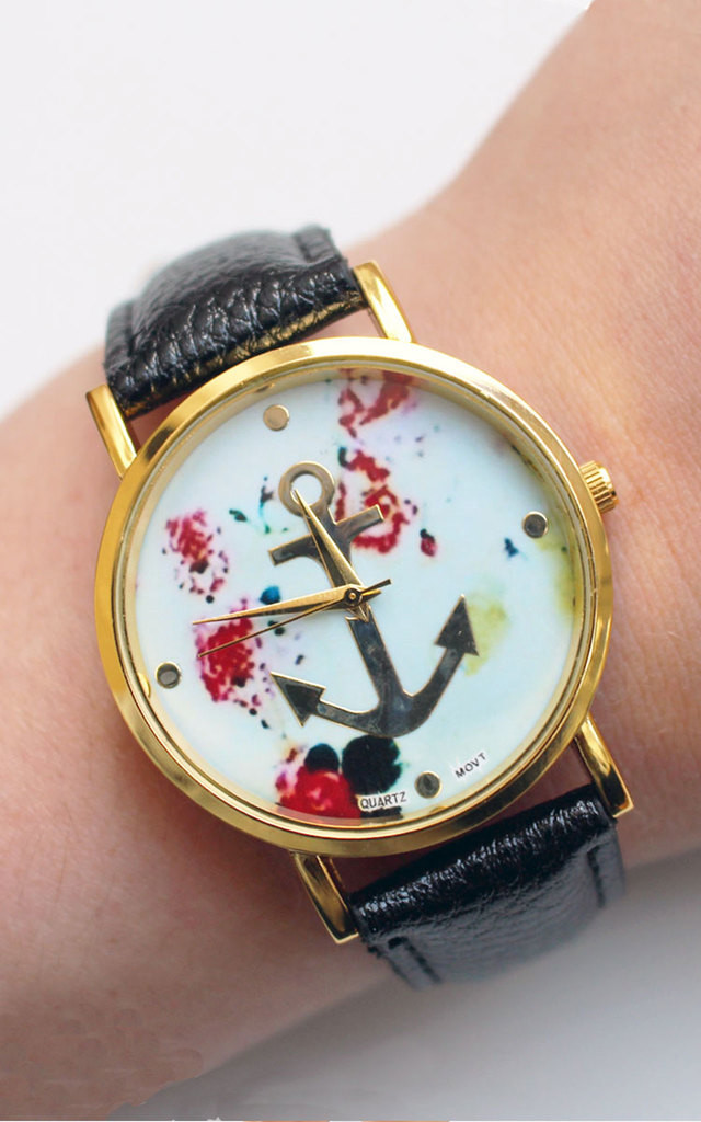 Floral Anchor Watch by Tallulah's Threads