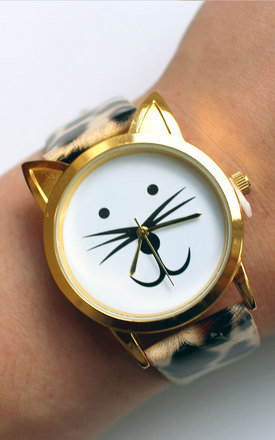 Cat face watch by Tallulah's Threads Product photo