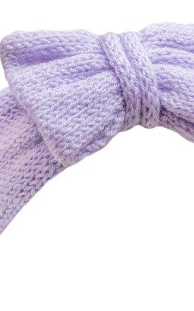 Glitter Lilac Knitted Bow Headband by Beauxoxo