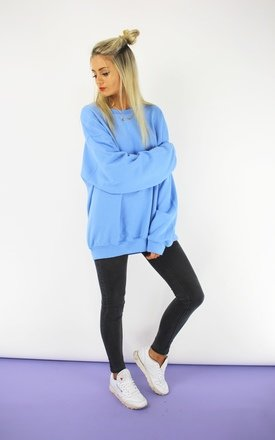 California blue boyfriend sweatshirt  by Cats got the Cream Product photo