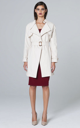 WHITE TRENCH COAT by Lady Zee