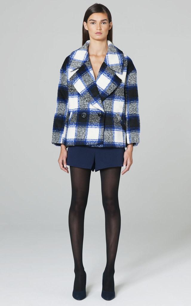 OVERSIZE CHECKED COAT by Lady Zee