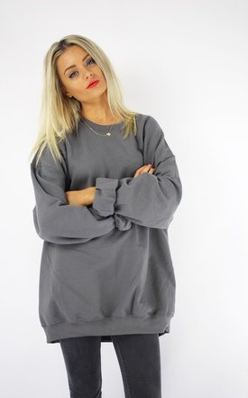 Basic oversized boyfriend sweater storm grey by Cats got the Cream Product photo