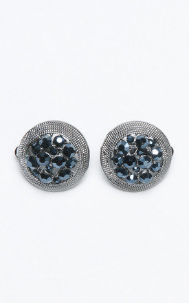 ROUND BLUE PEARLS EARINGS by Lady Zee