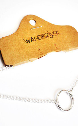 THICK SILVER INFINITY O RING CHOKER by Wanderdusk