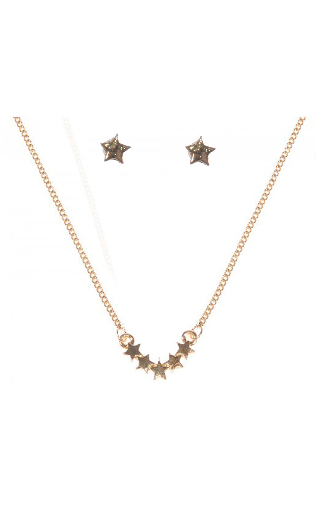 Star Stud & Necklace Gift Set by Johnny Loves Rosie