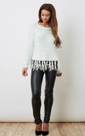 White fringed jumper  by VM Product photo