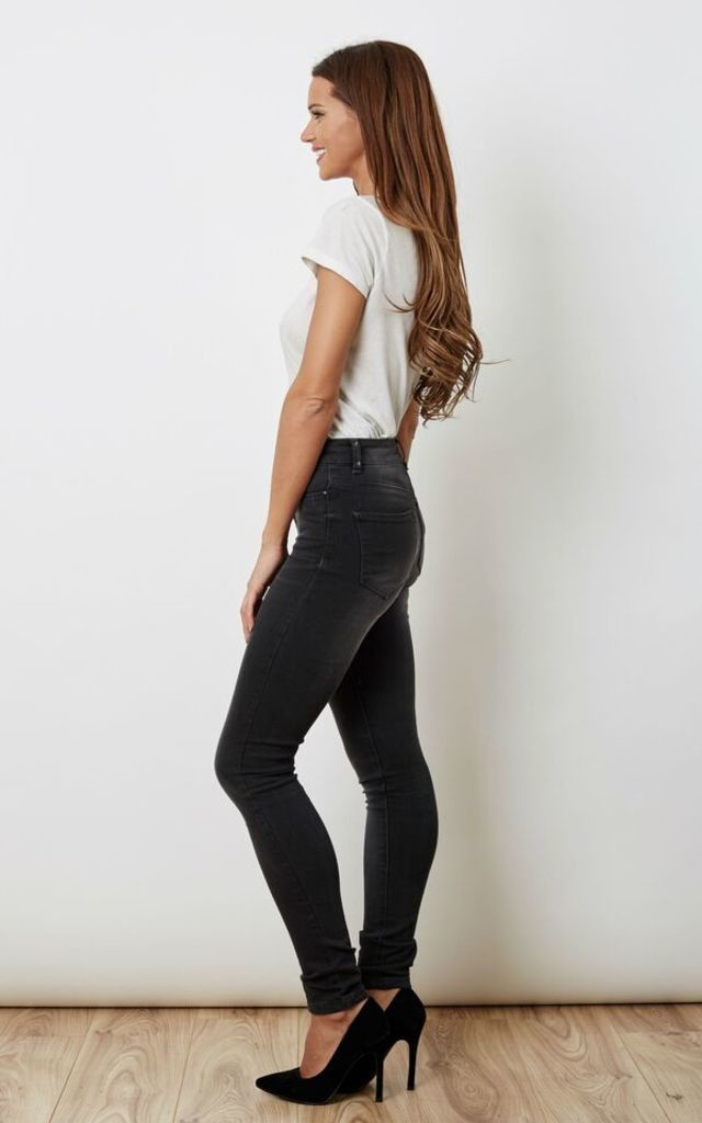 Dark Grey Skinny Jeans by VM