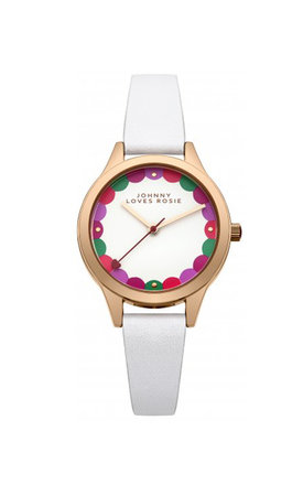 Johnny loves rosie white scalloped dial watch by Johnny Loves Rosie Product photo