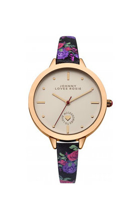 Johnny loves rosie floral printed strap watch by Johnny Loves Rosie Product photo