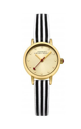 Johnny loves rosie pinstriped strap watch by Johnny Loves Rosie Product photo