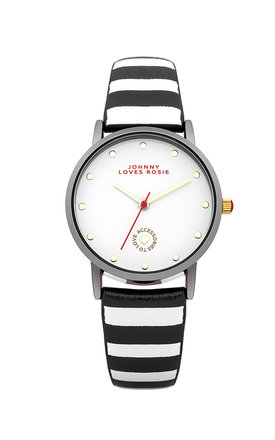Johnny loves rosie monochrome stripe strap watch by Johnny Loves Rosie Product photo