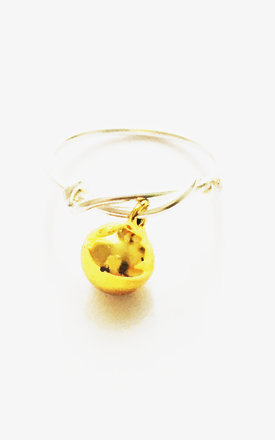 Christmas Bauble Ring Yellow by Kat&Bee Jewellery