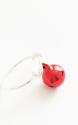 Christmas Bauble Ring Red by Kat&Bee Jewellery