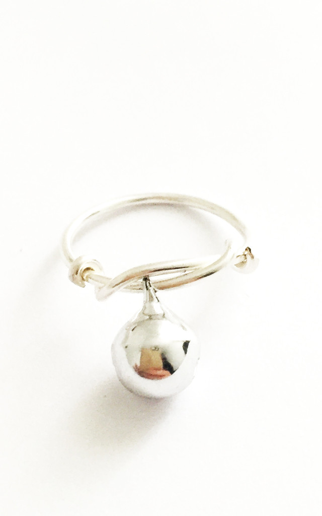 Christmas Bauble Ring Silver by Kat&Bee Jewellery